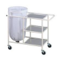 solid linen trolley with three shelves